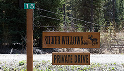 Silver Willows sign